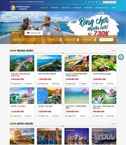 mẫu web du lịch đẹp nhất